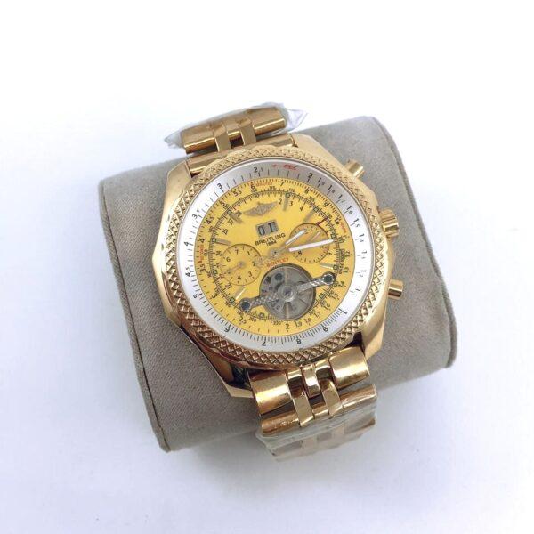 Réplica de relógio Breitling Automático – Dourado/Amarelo