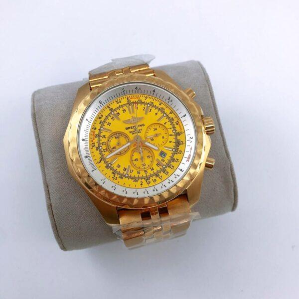 Réplica de relógio Breitling Bateria – Dourado/Amarelo