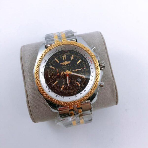 Réplica de relógio Breitling Bateria – Prata/Dourado/Preto