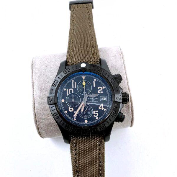 Réplica de relógio Breitling Lona Bateria- Marrom
