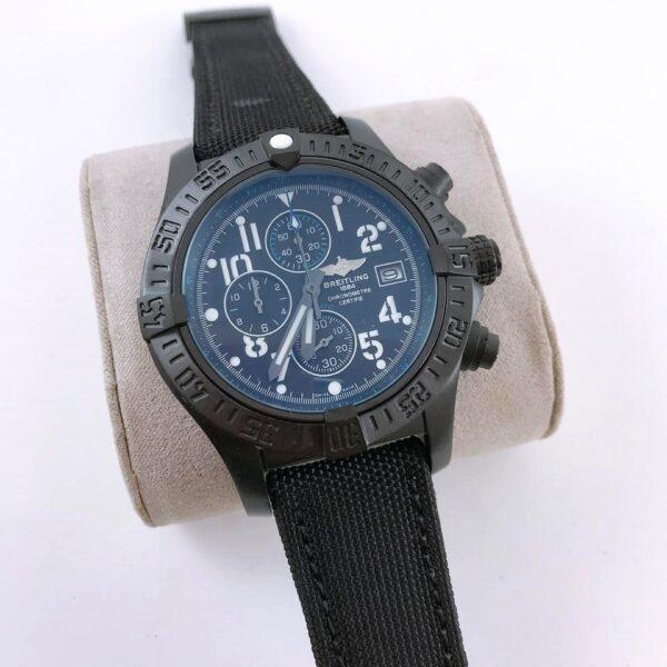 Réplica de relógio Breitling Lona Bateria- Preto
