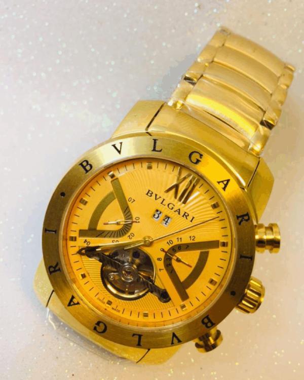 Réplica de relógio Bvlgari Automático Aço -Dourado