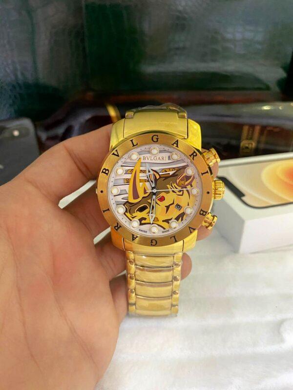 Réplica de relógio Bvlgari BV – Dourado/Branco
