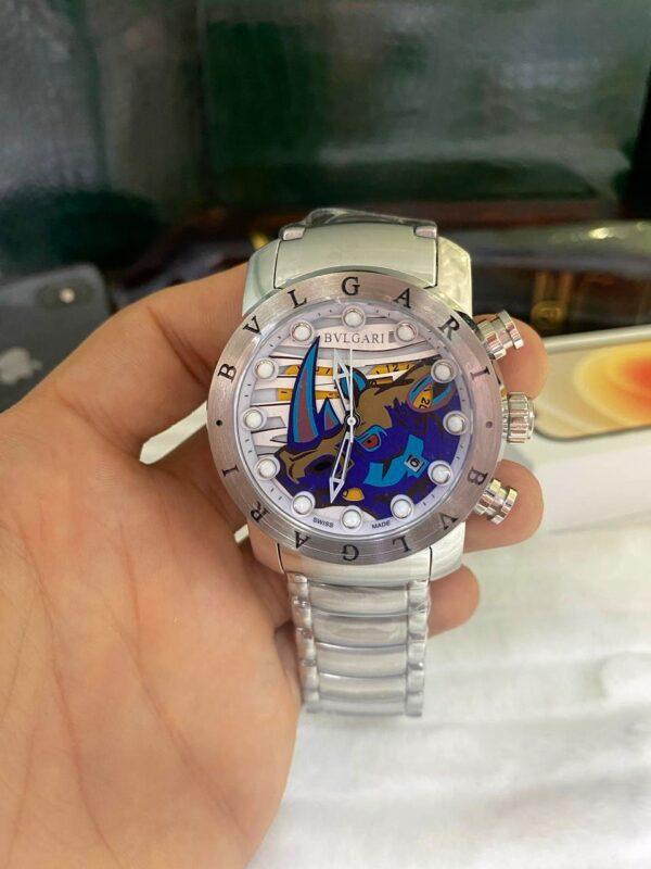 Réplica de relógio Bvlgari BV – Prata/Azul