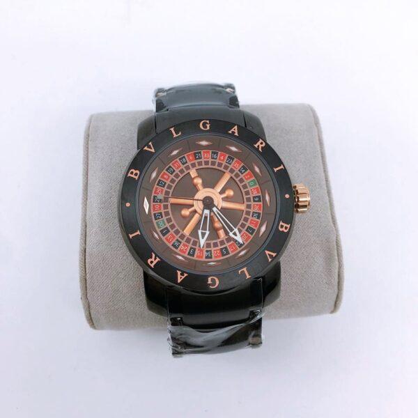 Réplica de relógio Bvlgari Cassino – Preto/Vermelho