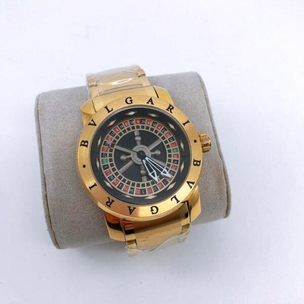Réplica de relógio Bvlgari Cassino – Dourado/Preto