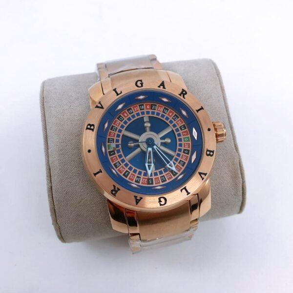 Réplica de relógio Bvlgari Cassino – Bronze/Azul