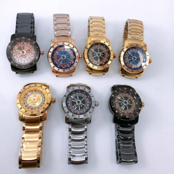 Réplica de relógio Bvlgari Cassino – Ouro/Azul 2