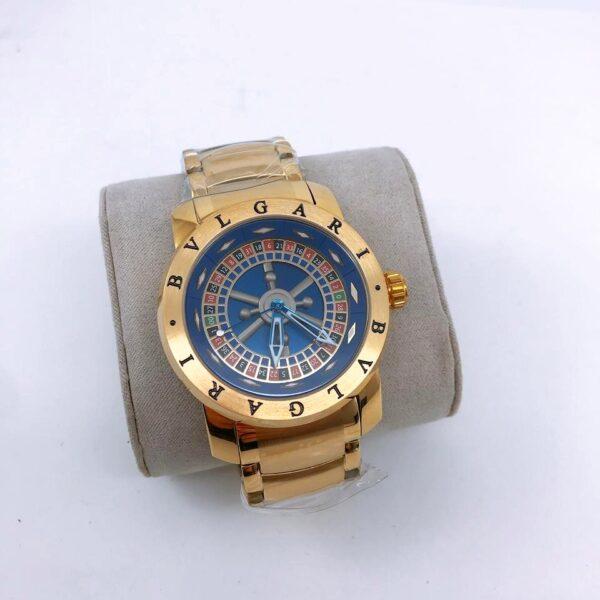 Réplica de relógio Bvlgari Cassino – Ouro/Azul