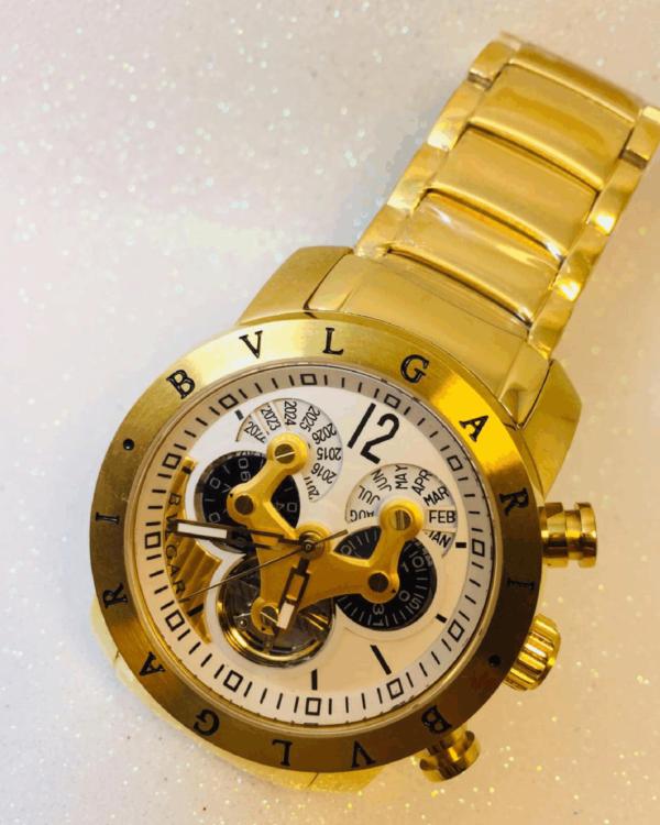 Réplica de relógio Bvlgari Hybrid – Dourado/Branco