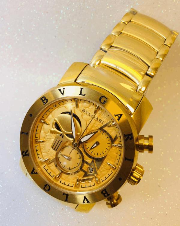 Réplica de relógio Bvlgari Justiceiro – Dourado