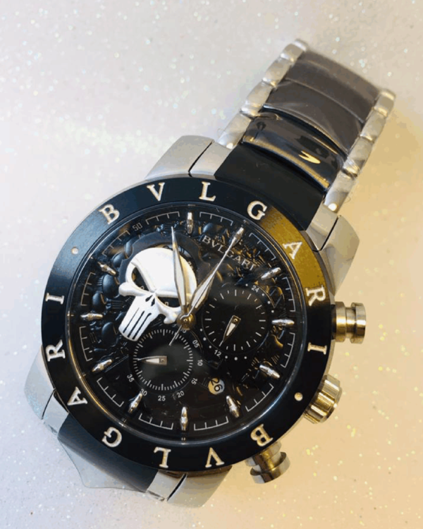 Réplica de relógio Bvlgari Justiceiro – Preto