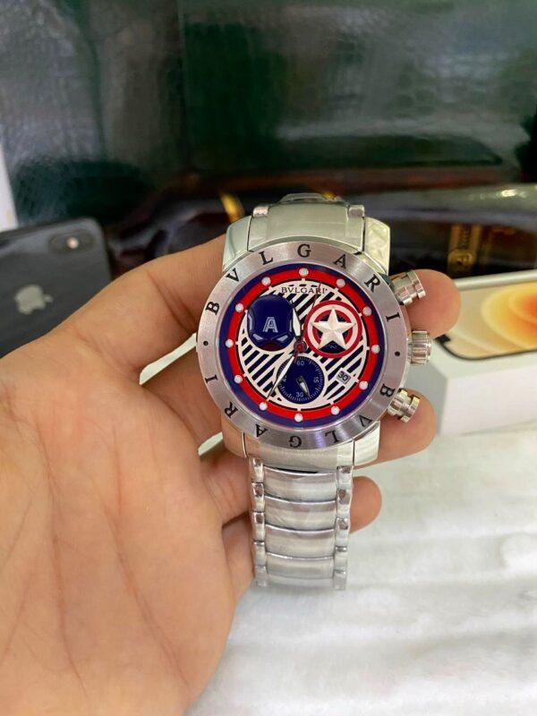 Réplica de relógio Bvlgari Capitão América – Prata