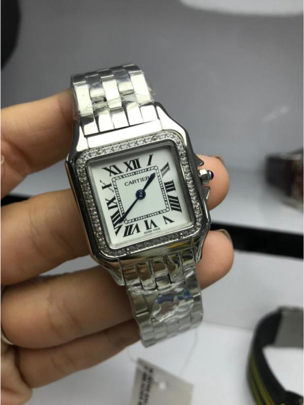 Réplica de relógio Cartier Aço Quadrado – Prata