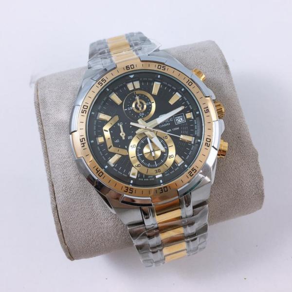 Réplica de relógio Casio Edifice – Prata/Preto
