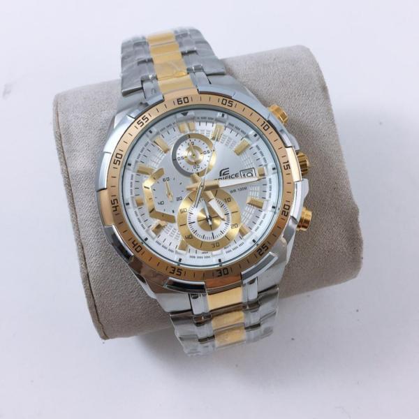 Réplica de relógio Casio Edifice – Prata/Branco