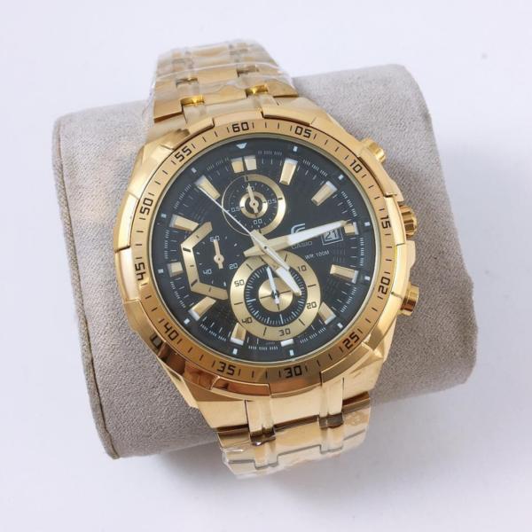Réplica de relógio Casio Edifice – Dourado/Preto