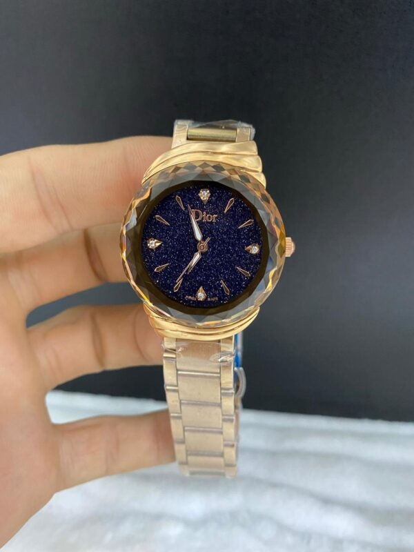 Réplica de relógio Dior Dife – Dourado/Preto