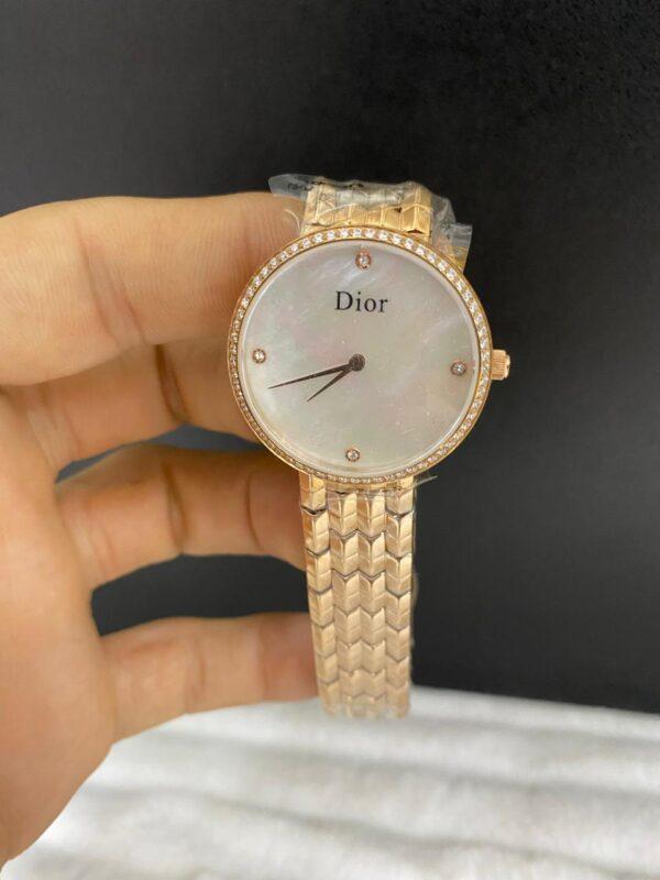 Réplica de relógio Dior Dife – Dourado/Branco