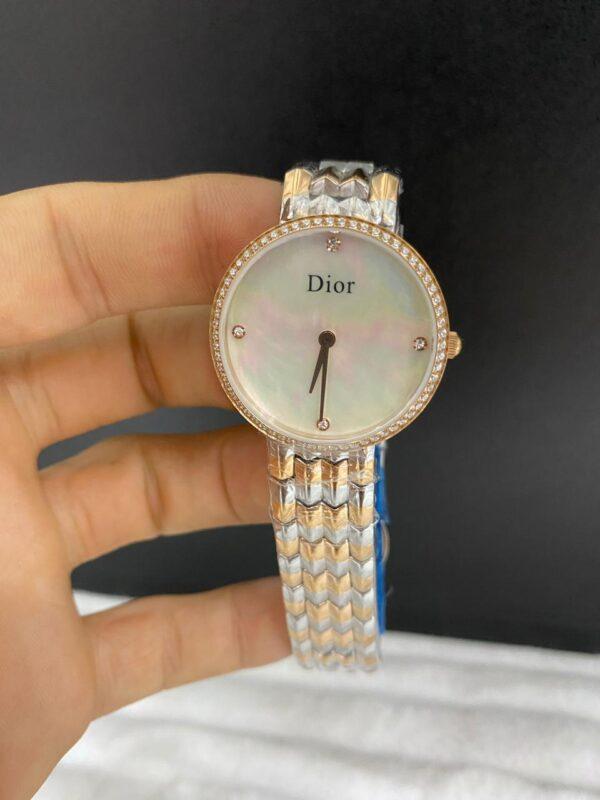 Réplica de relógio Dior Dife – Dourado/Prata