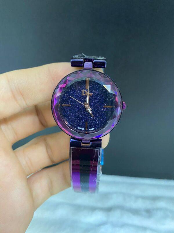 Réplica de relógio Dior Dife – Roxo/Preto