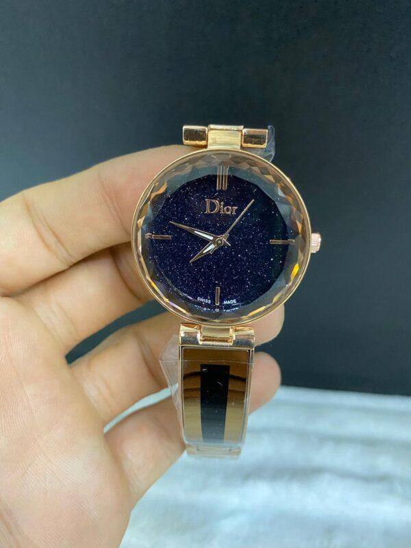 Réplica de relógio Dior Dife – Marrom/Preto