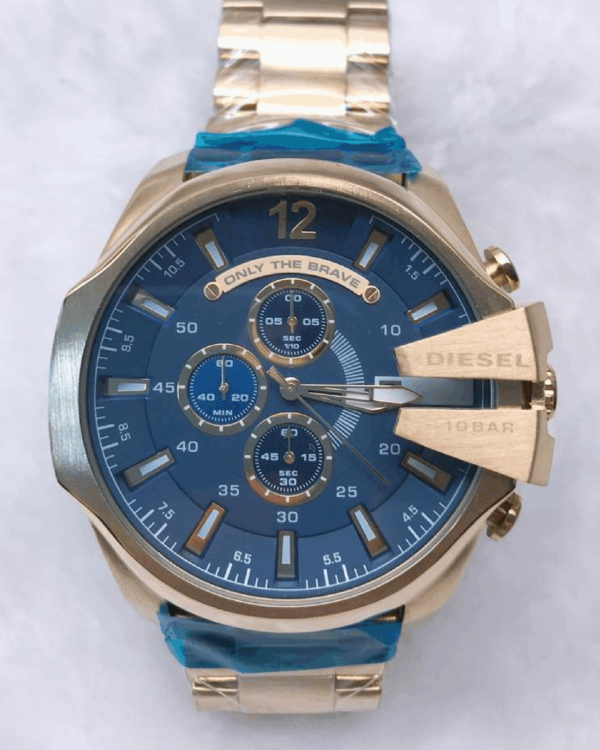 Réplica de relógio Diesel 10 Bar – Azul/Bronze