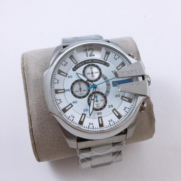 Réplica de relógio Diesel 10 Bar – Prata/Branco