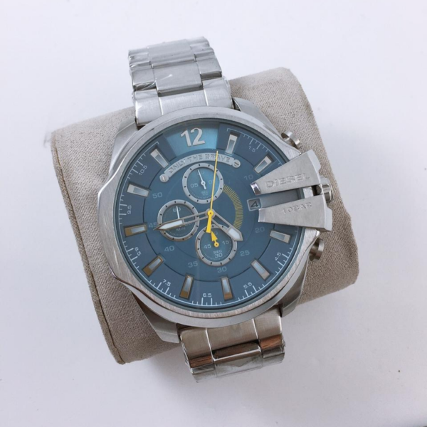 Réplica de relógio Diesel 10 Bar – Prata/Azul