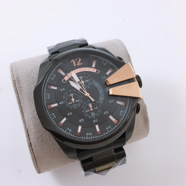 Réplica de relógio Diesel 10 Bar – Preto/Bronze