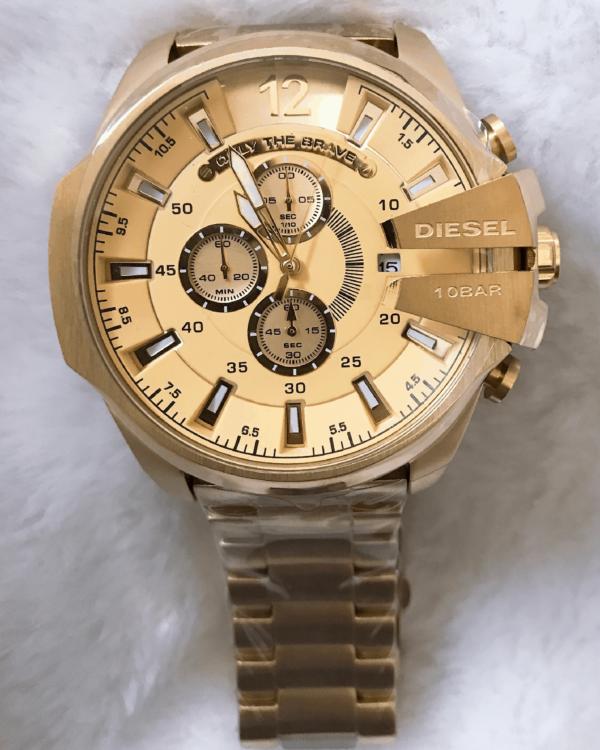 Réplica de relógio Diesel 10 Bar – Dourado
