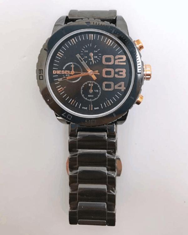 Réplica de relógio Diesel Feminino – Preto/Bronze