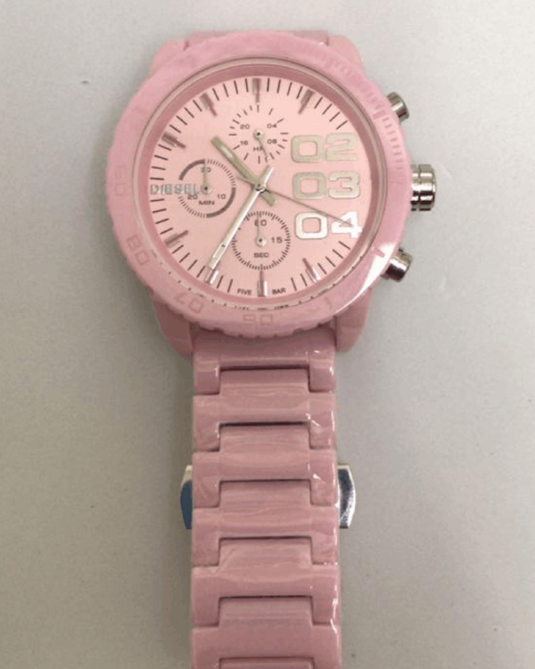 Réplica de relógio Diesel Feminino – Rosa