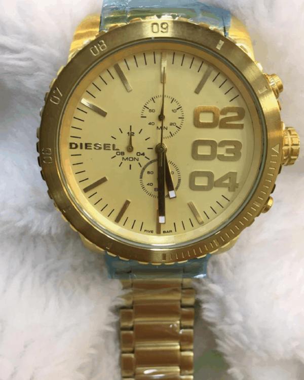Réplica de relógio Diesel Feminino – Dourado