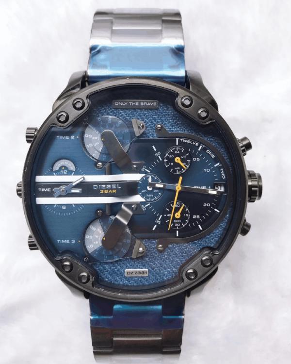 Réplica de relógio Diesel 4 Maquinas – Preto/Azul