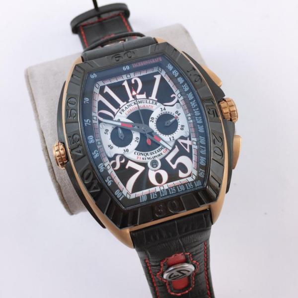 Réplica de relógio Franck Muller Bateria – Preto/Azul