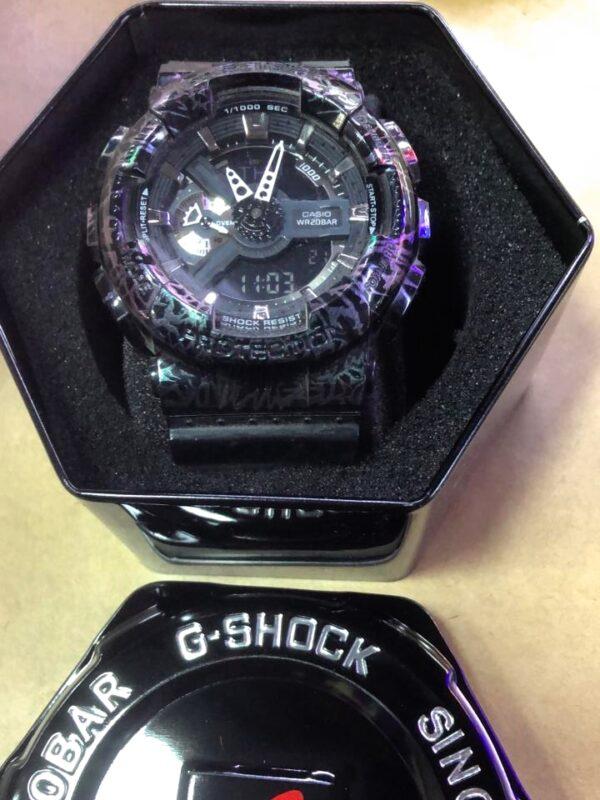 Réplica de relógio G-Shock – Roxo/Preto