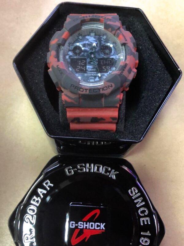 Réplica de relógio G-Shock – Preto/Vermelho