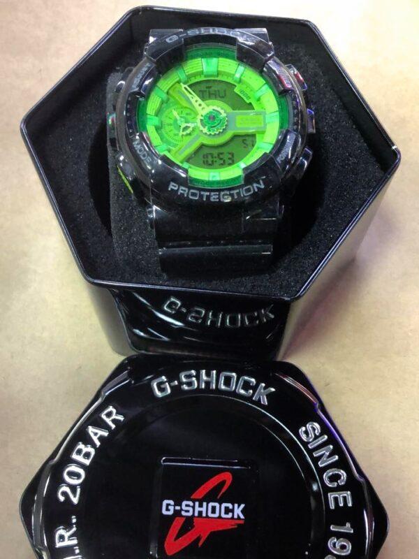 Réplica de relógio G-Shock – Preto/Verde