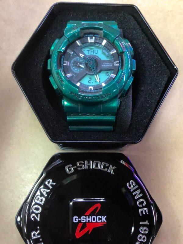 Réplica de relógio G-Shock – Verde Água