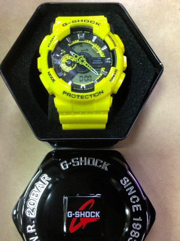 Réplica de relógio G-Shock – Amarelo