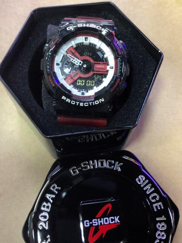 Réplica de relógio G-Shock – Preto/Roxo/Vermelho