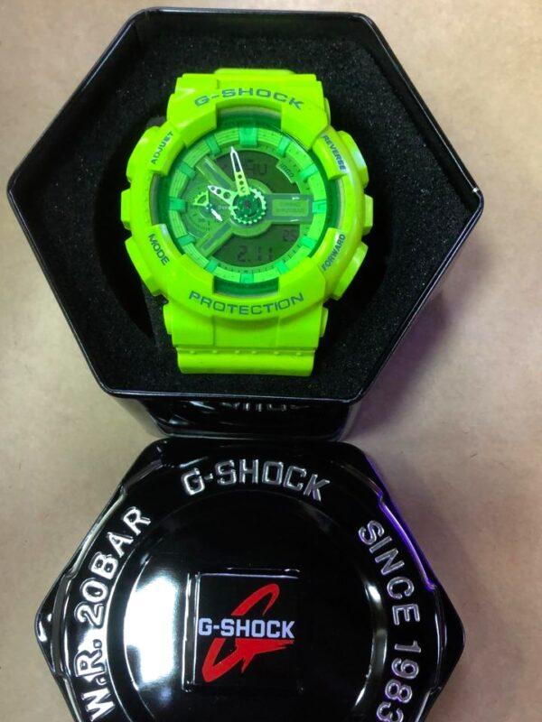 Réplica de relógio G-Shock – Verde Limão