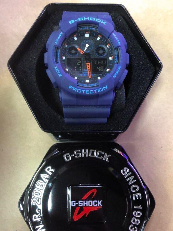 Réplica de relógio G-Shock – Azul