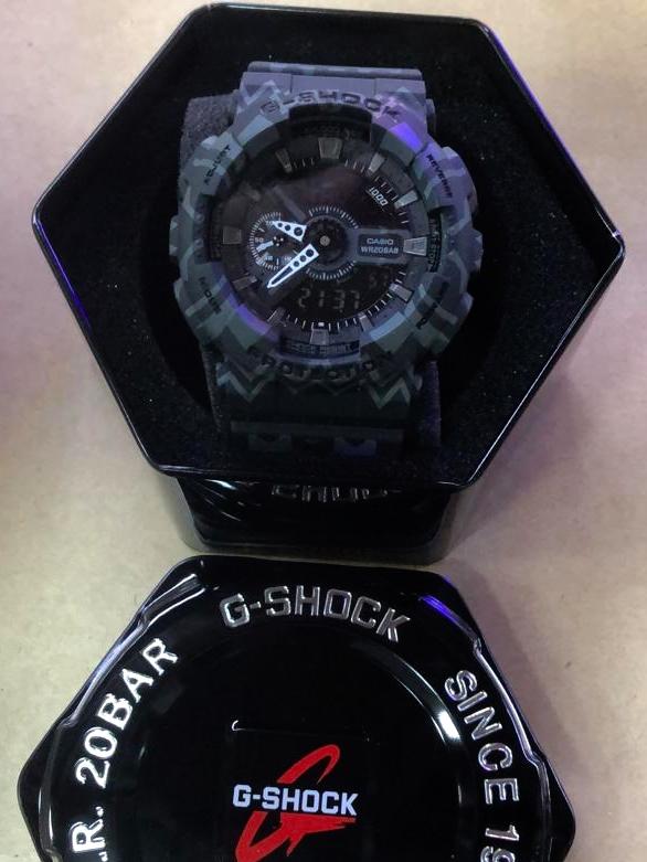 Réplica de relógio G-Shock – Camuflado Roxo
