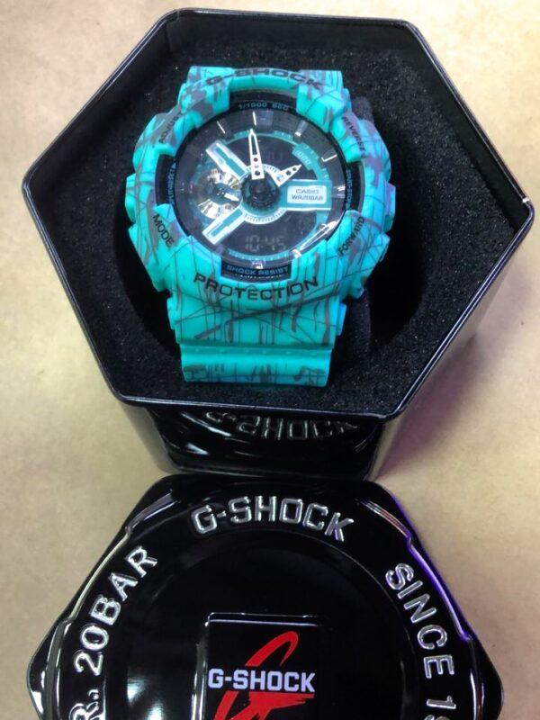 Réplica de relógio G-Shock – Azul Claro