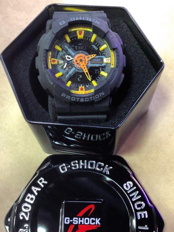 Réplica de relógio G-Shock – Roxo/Laranja