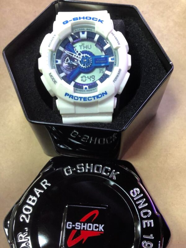 Réplica de relógio G-Shock – Branco/Azul