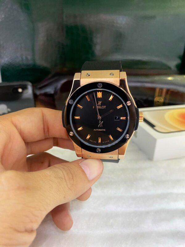 Réplica de relógio Hublot Fusion – Preto/Dourado