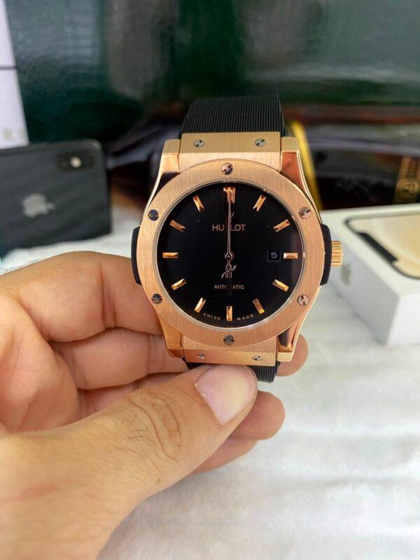 Réplica de relógio Hublot Fusion – Dourado/Black